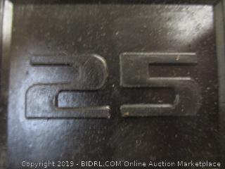 CAP - Rubber Coated 25 lb Dumbbell Set of 2