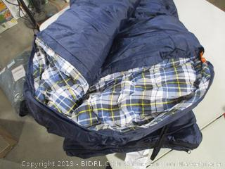 Redcamp - Hooded 41f Sleeping Bag (Navy Blue/Flannel)