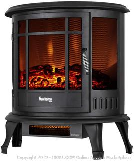 Free Standing Electric Fireplace Stove - 3-D Log and Fire Effect (Black) online $199