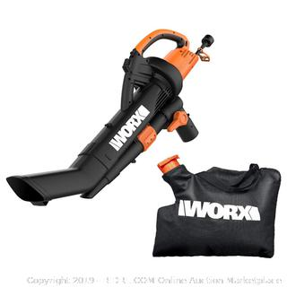 WORX WG509 TRIVAC 12 Amp 3-in-1 Electric Blower/Mulcher/Vacuum with Multi-Stage All Metal Mulching System (online $95)