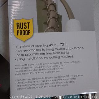 Never Rust Aluminum Double Curved Shower Rod