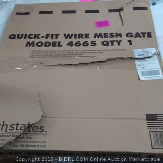 Quick-Fit Wire Mesh Gate