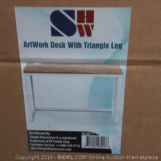 ArtWork Desk With Triangle Leg