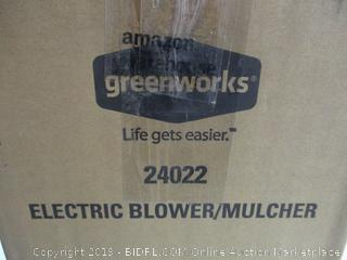 Greenworks - 24022 Electric Blower/Mulcher (missing blower nozzle parts, as pictured)