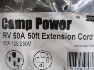 Camp Power 50A, 50ft RV Extension Cord (125/230v)