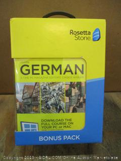 Rosetta Stone German Bonus Pack