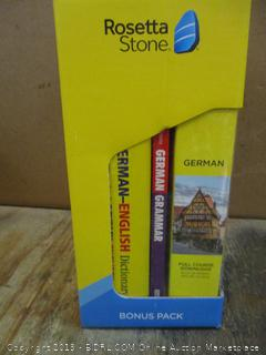 Rosetta Stone German Bonus Pack