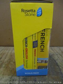 Rosetta Stone French Bonus Pack