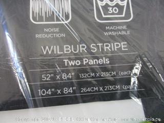 "Wilbur Room Darkening Striped Window Panel Curtains Set, 84"" L"