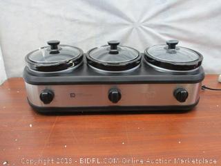 Three Crock Buffet Slow Cooker