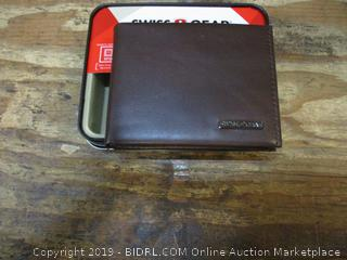 Swiss + Gear Brown Leather Mini Bifold