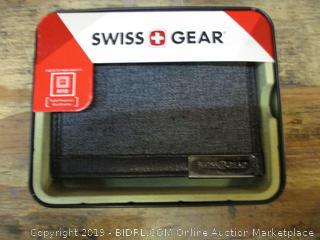 Swiss + Gear Grey Heather & Black Leather Bifold