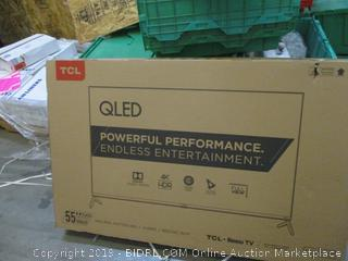 """TCL Roku TV 55"""" Powers on See Pictures"""