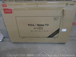 """TCL Roku TV 50"""" Powers on See Pictures"""