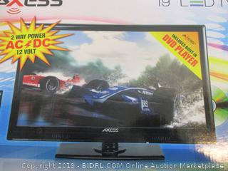 "Axess 19"" LED TV/DVD See Pictures"