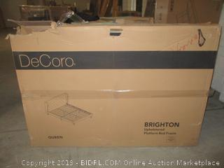 DeCoro Brighton upholstered queen size headboard/bed furniture item - possibly damaged