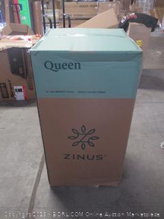 "Zinus queen size 12"" memory foam green tea mattress"