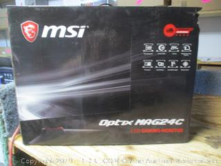 MST Optix MAG24C LED Gaming Monitor - powers on