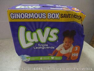 Luvs ginormous box triple leakguard diapers - box damage