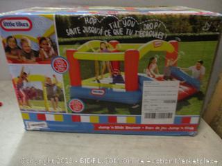Little Tikes jump n slide bouncer - box damage