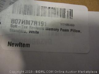 soft tex memory foam pillow, standard, white
