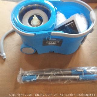 Spin Mop and bucket floor brush