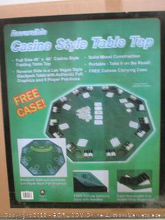 Reversible Casino Style Table Top