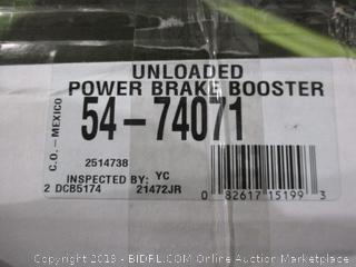 Unloaded Power Brake Booster