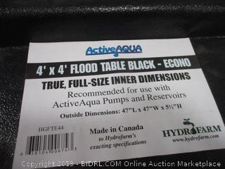 4' X 4' table Black trun, Full size Inner dimensions