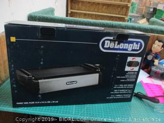DeLonghi 2 in1 Grill and Griddle with reversible die cast plate
