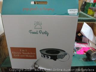 2 in 1 Electric Smokeless Grill and Hotpot