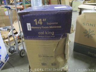 "14"" Supreme Memory Foam Mattress, Cal King"