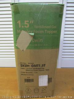 """1.5"""" Ventilated Gel Memory Foam Twin Mattress Topper"""