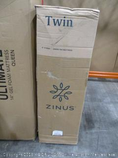 Zinus 6 Inch Mint Green Memory Foam Hybrid Spring Mattress, Twin