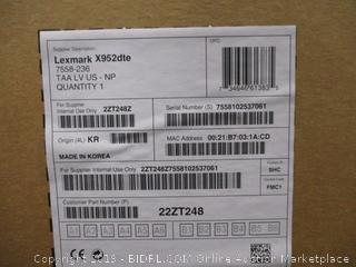 Lexmark X950 X952DTE LED Multifunction Printer 22ZT248