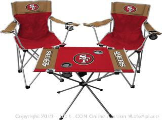 Rawlings NFL San Francisco 49ers Tailgate Kit, Team Color (online $93)