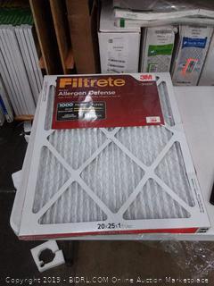 Filtrete micro allergen defense 20 x 25 x 1 filter 2 pack