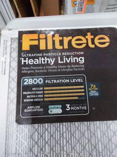 Filtrete ultrafine particle reduction 20 x 20 x 1 filter 2 pack