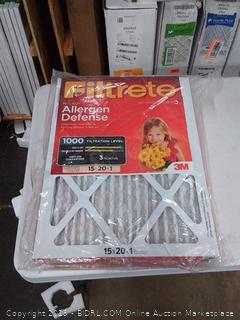 Filtrete micro allergen defense 15 x 20 x 1 filter 4 pack