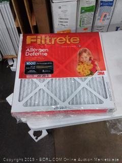 Filtrete micro allergen defense 20 x 20 x 1 filter 4 pack