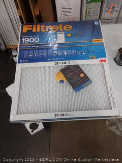 Filtrete smart air filter 20×24×1 2 pack