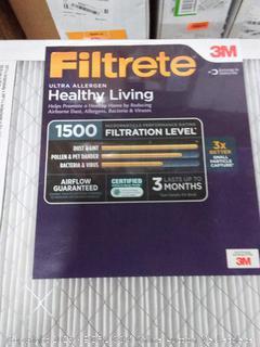 Filtrete Ultra allergen 14 x 30 x 1 filter 2 pack