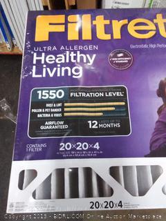 Filtrete Ultra allergen 20×20×4 filters 2 pack