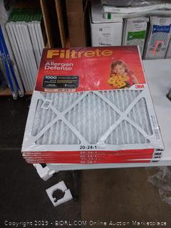Filtrete micro allergen defense 20 x 24 x 1 filters 4 pack