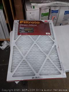 Filtrete micro allergen defense 20X30X1 2 pack filter