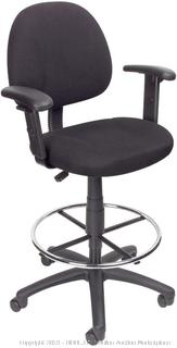 Boss Office Products Ergonomic Works Drafting Chair with Adjustable Arms in Black (online $101)