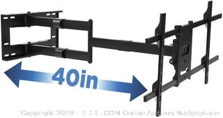 mounted long arm TV mount full-motion wall bracket with 40 inch extension articulating arm pit screen sizes 42-80 (online $179)
