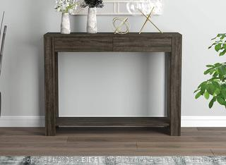 console table 40 in Gray to drawers