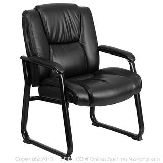 Flash Furniture Reception Chairs | Black LeatherSoft Side Chair (online $175)