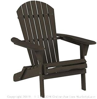 Carabelle Patio Outdoor Lawn & Garden Deck Villaret Adirondack Wood Chair Grey(Factory Sealed) COME PREVIEW!!!!